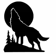 Howl at The Moon Wolf small vinyl car Decal / Sticker