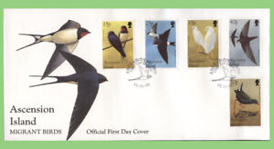 Ascension 1998 Migrant Birds set on First Day Cover