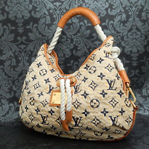 Rise-on LOUIS VUITTON MONOGRAM Cruise Line BULLES MM Nylon Beige Shoulder bag #3