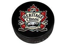 2014 NHL Heritage Classic Souvenir Puck Vancouver Canucks vs Ottawa Senators