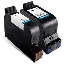 2 Pack HP 15 78 Ink Cartridge - Deskjet 920 940 3820 OfficeJet V40 5110 Printer