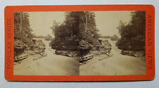 Antique Cascade Above Trip-Hammer Fall, Fall Creek Ithaca Vicinity NY Stereoview