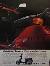 "1983 Honda Aero 80 Ad -8.5 x 10.5""-It's As Smart As It Looks-Original Print Ad"