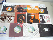 70's 80's Lot of 12 DON MCLEAN JOURNEY PROMOS Picture Sleeves 45 RPM Records