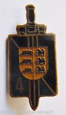 Insigne Miniature boutonnière GENDARMERIE 4° LGO ALLEMAGNE 1945 ORIGINAL 26 mm