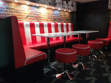 Bench/Booth/Fixed seating *American Diner Retro Style* Commercial & Domestic