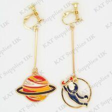 CLIP ON Earrings Gold Non Pierced Ear Studs Womens Jewellery Fashion Round #96