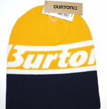 Burton Snowboards Marquee Reversible Logo Knit Winter Hat/Beanie/Toque Bl/Yellow
