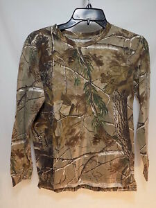 Boys REALTREE CAMO Long Sleeve T Shirt by RED HEAD Size Large