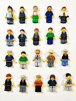 Lego Gentlemen Man Male w/ Accessory Random Town City Minifigures Lot of 5