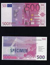 Euro simplement dilapider rechengeld polymère TESTNOTE Play Money specimen