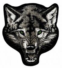 WOLF GREY WOLVE VARG - Patch Aufnäher Aufbügler Gestickt Embroidery 11x9cm