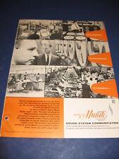 Muzak Wrather Corp & Norelco Telephone 1964 Catalog 2 Lot