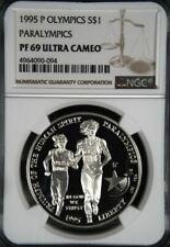 1995-P OLYMPICS PARALYMPICS 'BLIND RUNNER' SILVER $1 NGC PF69 ULTRA CAMEO