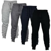 Mens Fashion Autumn Joggers Solid Color Casual Drawstring Sweatpants Trousers DZ