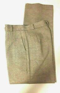 Talbots Women's Dress Pants Brown Woven Flat Front Lined Wool Silk Blend Size 6