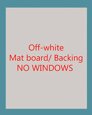 """50 Off-white 8""""x10"""" Premium Photo Framing Mat Boards  NO WINDOW + 50 Sleeve Bags"""