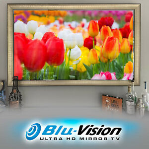 "NOW $4,999.99! MIRROR TV 65"" SAMSUNG Q60A SMART 4KTV LUXURIOUS SILVER/GOLD FRAME"