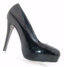 b778818978c7 Steve Madden  Russhh  black patent leather stitched slip on platform heel 8M