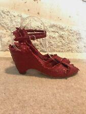 PONS QUINTANA Red Woven Leather Wedge Platform Sandals EU 40 / UK 7