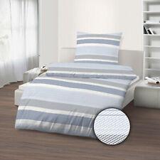2 tlg Mako Satin Bettwäsche 155 x 220 cm 100% Baumwolle arktikblau  B-Ware