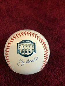 Yogi Berra Signed Yankee Stadium Logo Baseball MLB AUTHENTICATED RARE