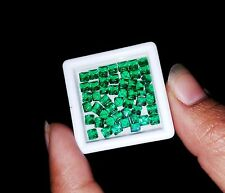 7.42 Ct 50 Pcs Square Shape Natural Zambia Emerald Gemstone Best to Buy
