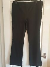 Next Tailoring Black Suit Trousers with side Zip Size 14 Long