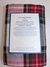 NWT $99 WILLIAMS SONOMA HOME Classic STEWART Tartan Linen Blend EURO Sham