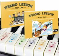 Color Piano and Keyboard Stickers and Complete Color Piano Book 1 and 2