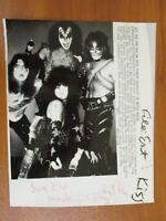 Vintage AP Wire Press Photo Rock Group Kiss Gene Simmons Paul Stanley 2/12/78 #1