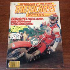 MOTOCROSS ACTION DECEMBER 1979 125/500 NATS YZ MARTY TRIPES MUGEN ME125RZ HONDA