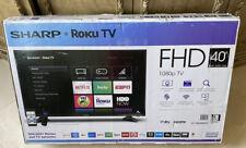 "Sharp Roku FHD TV 40"" 1080p HD LED LCD Internet TV WiFi Brand New!"