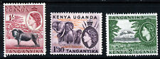 KENYA UGANDA & TANGANYIKA QE II 1954-55 High Value Group SG 175 to SG 177 MINT