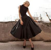 Tatteta Black Short Party Skirts Womens Ladies Prom Dress Skirt