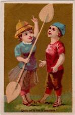 Girl with Kayak Paddle Asks What is the highest voice? French Trade Card Boutry