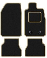 RENAULT KOLEOS 2008 ONWARDS TAILORED BLACK CAR MATS WITH BEIGE TRIM
