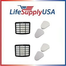 2 Filter Kits fit Shark Navigator Lift-Away Vac NV350 NV360 NV370, XFF350 XHF350