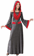 LADIES DEATH #DEATHLY WOMAN DRESS HALLOWEEN HORROR FANCY DRESS OUTFIT