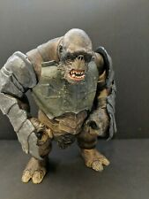 "Lord Of The Rings 10"" Battle Troll Poseable With Armor  Return of the King Movie"