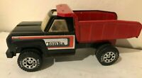 Vintage 1970's Tonka Truck Pressed Steel Dump Truck Black Red Roof Opening 13254