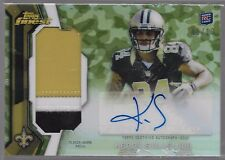 2013 Topps Finest Camouflage Refractor Kenny Stills Auto 3 Color Jersey Rc # /10