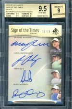 2014 UD SP Authentic Sign Times SOTT Four McIlroy Els McDowell Louis BGS 9.5 9