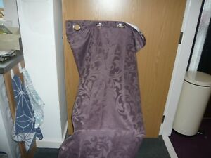 """pair b&m lined ring top curtains size 54"""" x 88""""  plum pattern"""