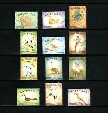 Botswana -- birds -- 12 diff used definitives from 2014 -- cv $13.95