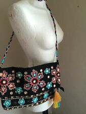 Free Minds Boho Crossbody Messenger Bag Hippy Festival Ethnic Gypsy Psy Pixie