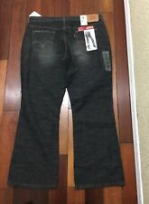 Nwt Levi's Strauss & Co. 515 Noveau Bootcut Black Jeans Women's 16 Petite