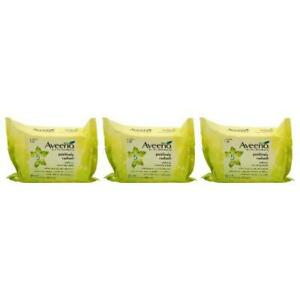 AVEENO 3 Packs Of Wipes  Positively Radiant Makeup Removing