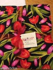 """Bloom with a View 40- 10"""" squares *Fabric Layer Cake 100% Cotton, Quilting"""