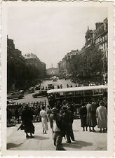 PHOTO ANCIENNE - VINTAGE SNAPSHOT -PARIS RUE ROYALE BUS AUTOBUS RATP CAR AUTOCAR